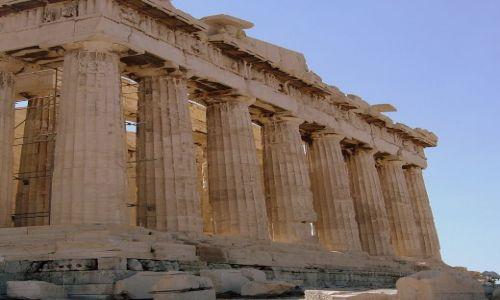 Zdjęcie GRECJA / Ateny / Akropol / fragment świątyni - Akropol