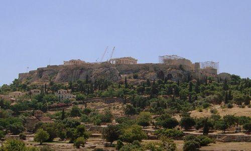 Zdjecie GRECJA / Ateny / Akropol / widok na wzgórze