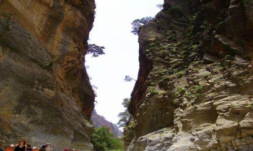 Zdjęcie GRECJA / wyspa Kreta / Wąwóz Samaria / wąska szczelina między ścianami wąwozu