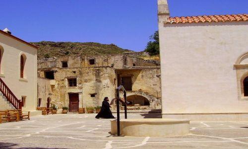 Zdjęcie GRECJA / wyspa Kreta / klasztor Preveli / złapany w kadrze -