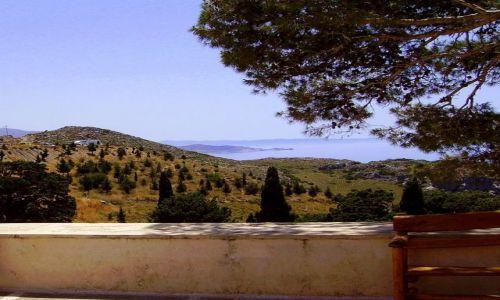 Zdjęcie GRECJA / wyspa Kreta / klasztor Preveli / widok z klasztornego tarasu