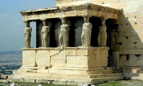 Zdjęcie GRECJA / Ateny / Akropol / Kariatydy przed Erechtejon