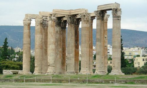 Zdjęcie GRECJA / Ateny / Plaka / Świątynia Zeusa