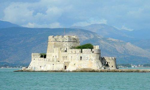 Zdjęcie GRECJA / Peloponez / Zatoka Sarońska / Fort w Nafplio