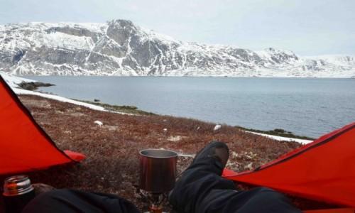 GRENLANDIA / Sermersooq / Nuuk / Pod namiotem