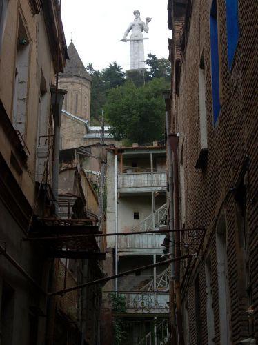 Zdjęcia: Tbilisi, Matka Gruzja od strony Starego Tbilisi, GRUZJA