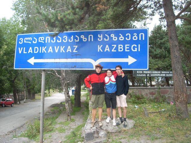 Zdjęcia: Kazbegi, Spotkani Polacy w drodze do Osetii Północnej, GRUZJA