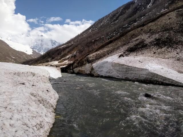 Zdjęcia: Lodowiec Shkhara, Swanetia, W drodze na lodowiec Shkhara, GRUZJA