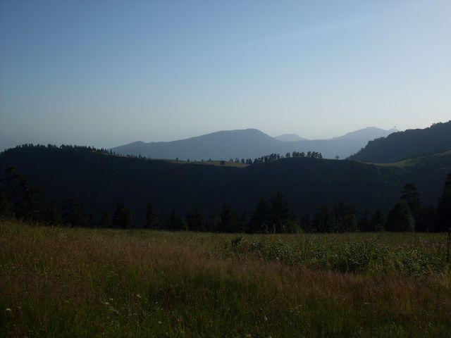 Zdjęcia: północny-zachód od Atskuri (Atskuri w połowie drogi pomiędzy Borżomi a Akhaltsikhe), Park Narodowy Borżomi-Karaguli, ... na polance..., GRUZJA