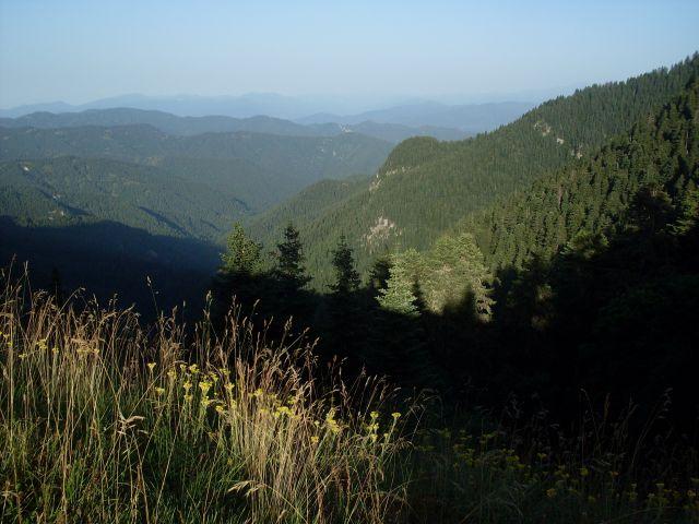 Zdjęcia: północny-zachód od Atskuri (Atskuri w połowie drogi pomiędzy Borżomi a Akhaltsikhe), Park Narodowy Borżomi-Karaguli, ... ku zachodowi..., GRUZJA