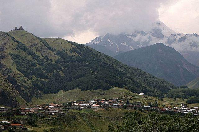 Zdjęcia: Wojenna droga, Gergati, Dolina Tereki, GRUZJA