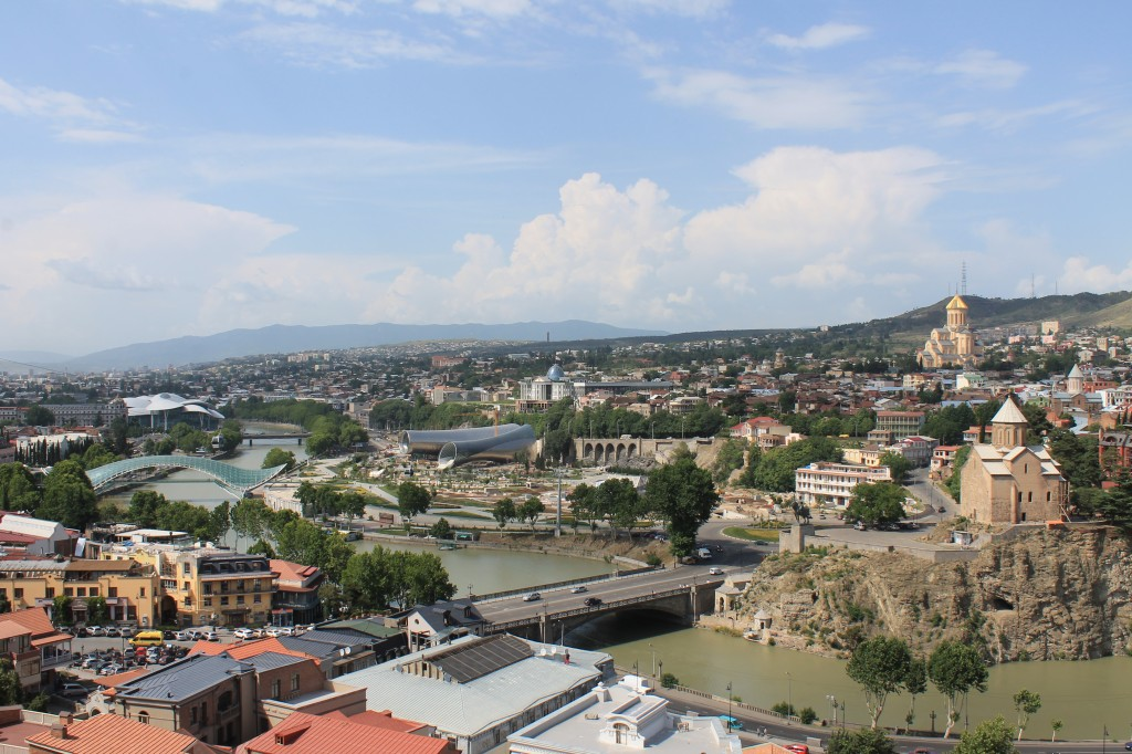 Zdjęcia: Gruzja - Tbilisi, Gruzja - panorama Tbilisi, GRUZJA