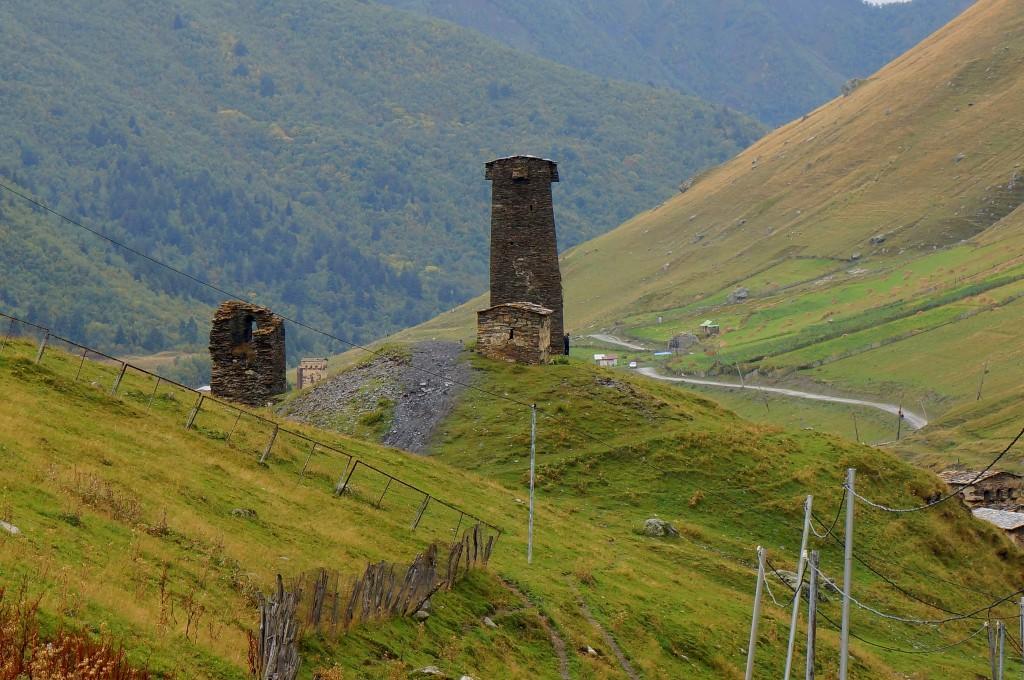 Zdjęcia: Uszguli, Swanetia, Samotna wieża, GRUZJA