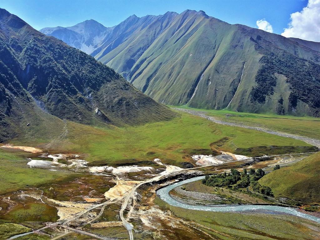 Zdjęcia: Dolina Truso, Kaukaz, Truso Travertines, GRUZJA