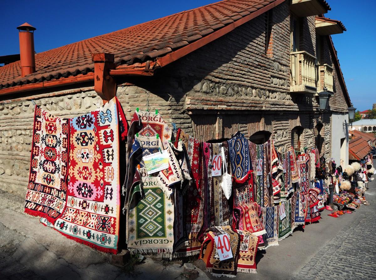 Zdjęcia Sighnaghi Kachetia Dywany Dywaniki Kilimy