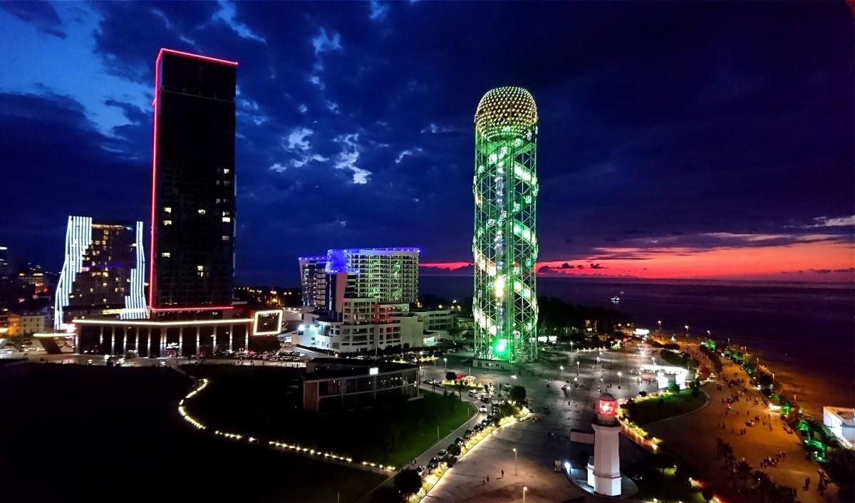 Zdjęcia: Batumi, Adżaria, Batumi nocą, GRUZJA