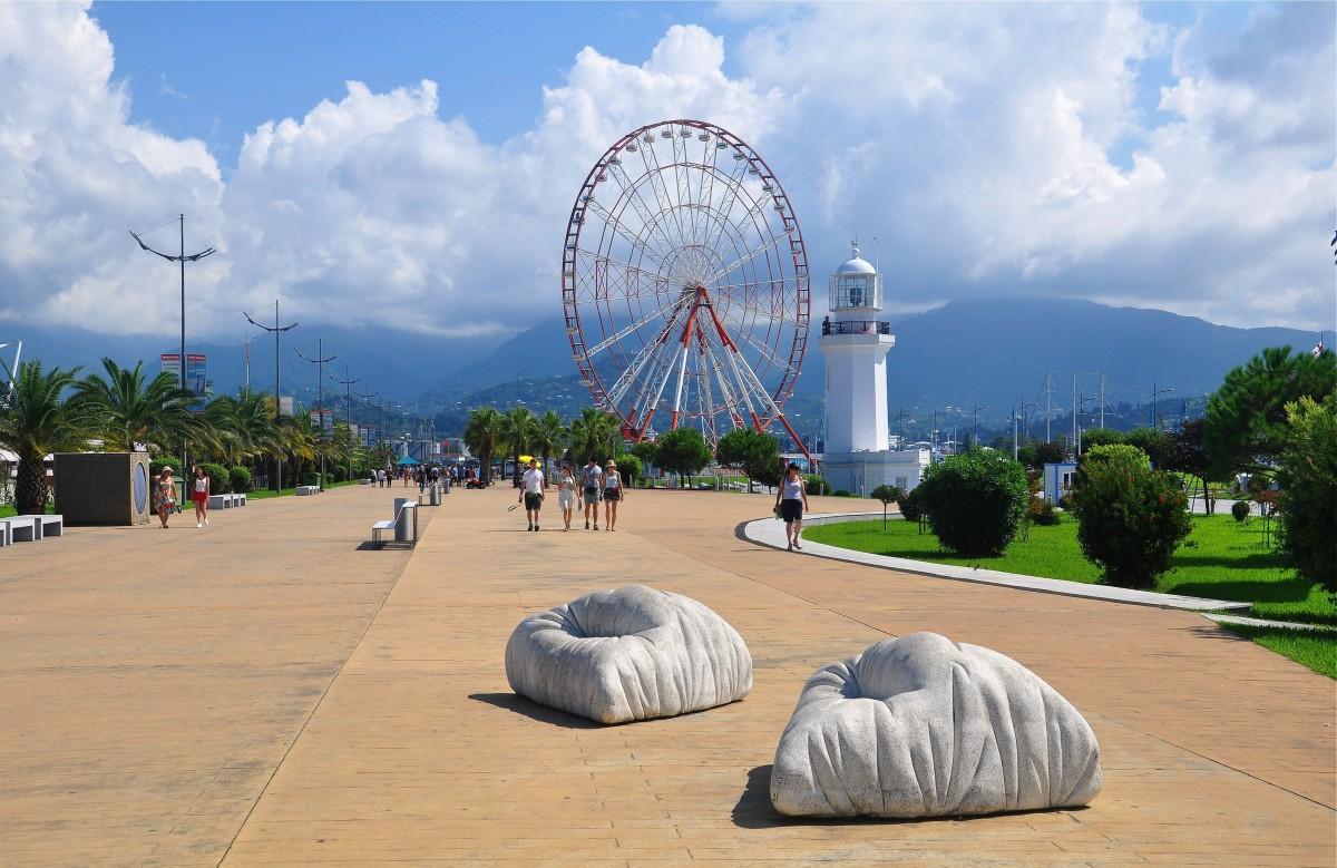 Zdjęcia: Batumi, Adżaria, Bulwary w Batumi, GRUZJA