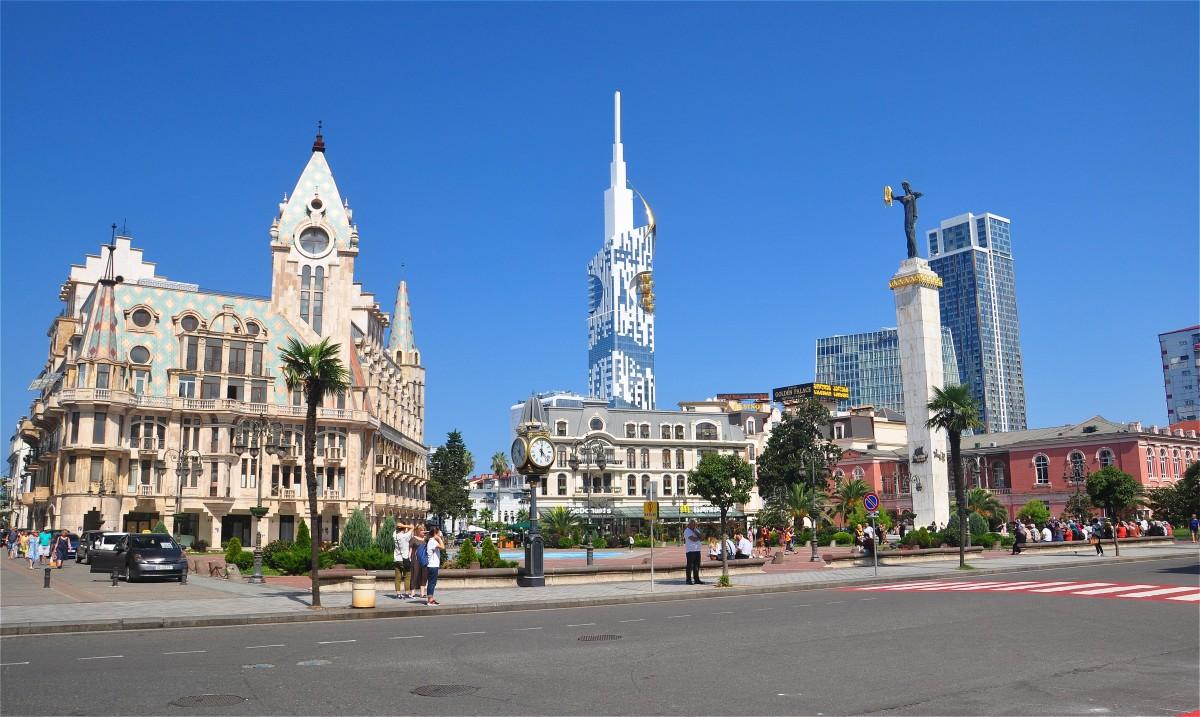Zdjęcia: Batumi, Adżaria, Plac Europejski w Batumi, GRUZJA