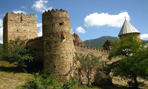 Zdjęcie GRUZJA / okolice Tbilisi / Kaukaz / twierdza Ananuri