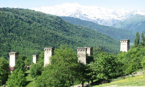 Zdjęcie GRUZJA / SVANETIA / KAUKAZ / wieże Svanetii