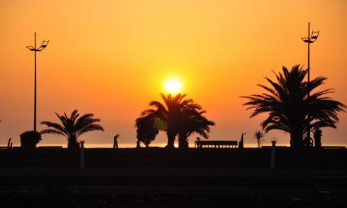 GRUZJA / Batumi  / Batumi  / zachód słońca w Batumi