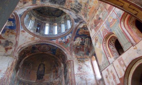 Zdjecie GRUZJA / Imeretia / Gelati / Wnętrze Cerkwii Narodzenia Najświętszej Maryi Panny