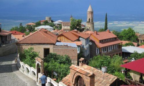 Zdjęcie GRUZJA / Kachetia / widok ze wzgórza / Signali
