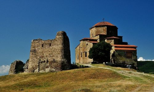 GRUZJA / wschodnia Gruzja / niedaleko miasta Mccheta / Klasztor Jvari