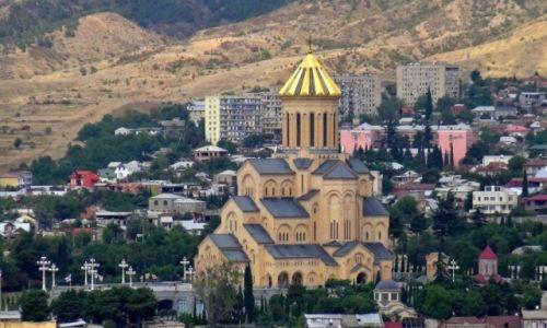 Zdjęcie GRUZJA / Tbilisi / Twierdza Narikala / Cminda Sameba