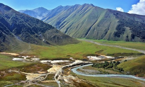 GRUZJA / Kaukaz / Dolina Truso / Truso Travertines