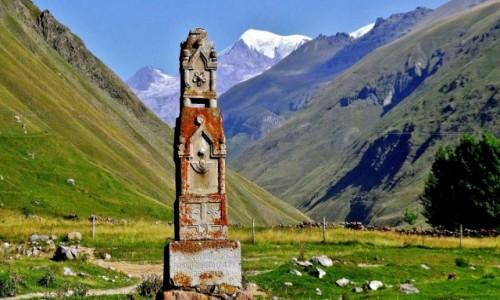 GRUZJA / Kaukaz okręg Mccheta-Mtianetia / Shevardeni / Dolina rzeki Mna