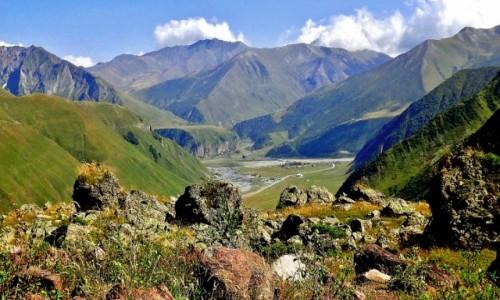 Zdjęcie GRUZJA / Kaukaz okręg Mccheta-Mtianetia / Nogkau / U styku dolin Tergi i Bidara