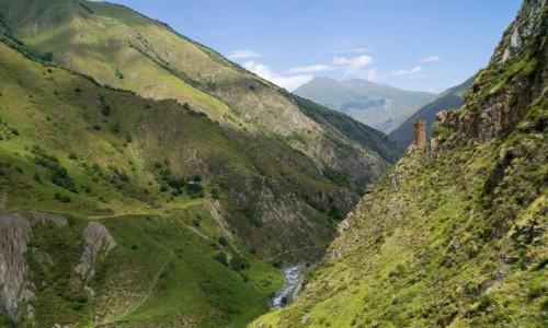 GRUZJA / Mcchta-Mtianetia / wioska Muco / Chewsureckie krajobrazy