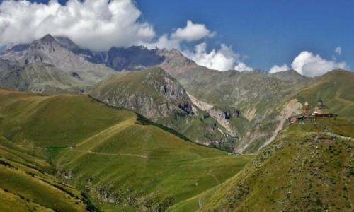 Zdjecie GRUZJA / Mccheta-Mtianetia / szczyty ponad Gergeti  / Forpoczta Kazbe