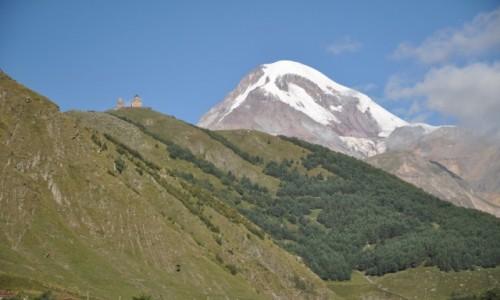 Zdjęcie GRUZJA / Kaukaz / Widok z Kazbegi / Kazbek