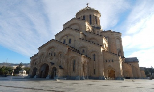 Zdjecie GRUZJA / . / . / Tbilisi - Sobor Trojcy Swietej