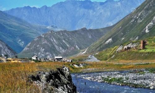 Zdjecie GRUZJA / Kaukaz / Truso Travertines / Dolina Truso