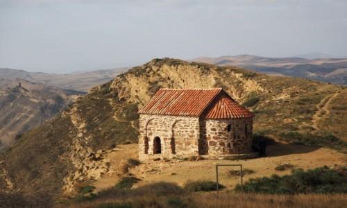 GRUZJA / Kachetia / kompleks  klasztorny Dawid Garedża / Na granicy z Azerbejdżanem