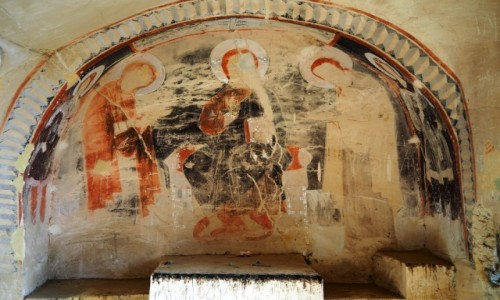 Zdjecie GRUZJA / Kachetia / kompleks  klasztorny Dawid Garedża / Kaplica