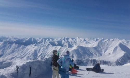 GRUZJA / Kaukaz / Sadzele / Sadzele widok ze szczytu góry