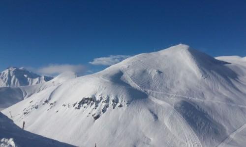 GRUZJA / Kaukaz / Gudauri / Góry Kaukaz zimą