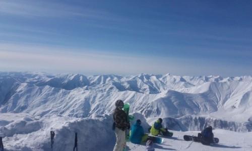 Zdjecie GRUZJA / Kaukaz / Kaukaz / Góry Kaukaz zimą