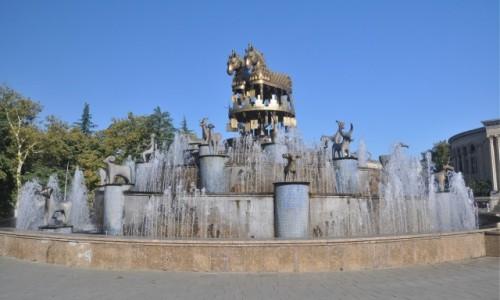Zdjecie GRUZJA / Imeretia / Kutaisi / Fontanna na Placu Agmaszenebeli