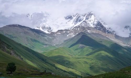 Zdjecie GRUZJA / Svanetia / Ushguli / Widok na masyw Shary
