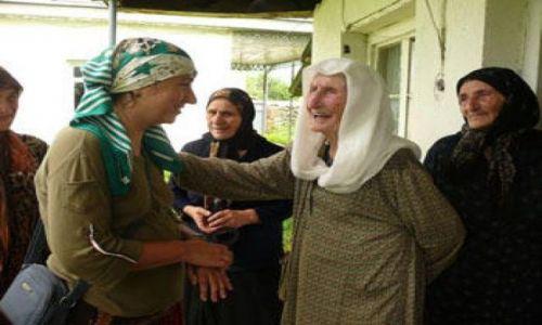 GRUZJA / Kaukaz / Wąwóz Pankisi / Kobieta w muzułmańskiej społeczności Pankisi 4