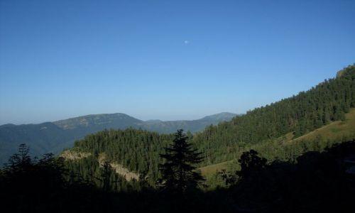 Zdjęcie GRUZJA / Park Narodowy Borżomi-Karaguli / północny-zachód od Atskuri (Atskuri w połowie drogi pomiędzy Borżomi a Akhaltsikhe) / ... w dziennym blasku księżyca...