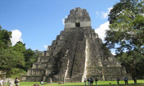 Zdjęcie GWATEMALA / - / Gwatemala / Piramida w Tikal