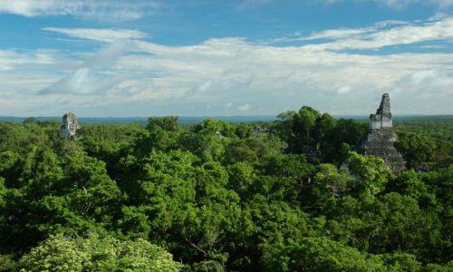 Zdjęcie GWATEMALA / El Peten / Tikal / Templo II i I