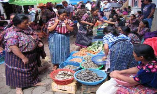 Zdjęcie GWATEMALA / Jezioro Atitlan / okolie Atitlan / Indiańskie targowisko
