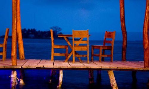 Zdjecie GWATEMALA / Atitlan / Gospoda nad jeziorem Atitlan / Wieczor nad jeziorem